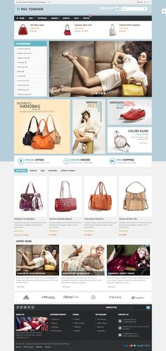 Pav Towner Responsive Opencart Theme  This theme has a very simple design that is very popular with online fashion, handmade, gift retailer etc.With 4 theme colors and Great slideshow, nice banners making your site more beautiful