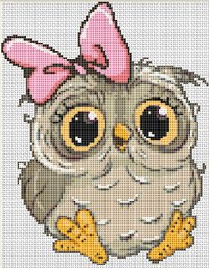 Cross Stitch Cow, Cat Cross Stitches, Counted Cross Stitch Patterns, Cross Stitch Charts, Cross Stitching, Disney Cross Stitch Patterns, Owl Cat, Hello Kitty Wallpaper, Disney Winnie The Pooh
