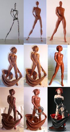 Black Queen Process by *TKMillerSculpt on deviantART *___*