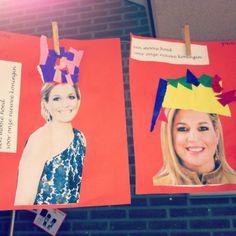 Hoedje voor de koningin! Ook goed te gebruiken voor bijvoorbeeld Prinsjesdag. Holland, Stage, Teaching, Creative, Kids, Art, Early Education, Crowns, Working Holidays