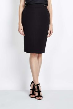 Black D Ring PVL Pencil Skirt