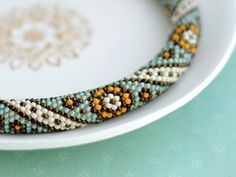 PDF-PATTERN Moroccan Flowers for bead crochet door Chudibeads