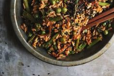 Spring Veggie Fried Rice with Ramps   Kimchi   a giveaway!