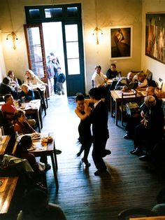 Tango in Buenos Aires! Tango is so romantic, especially when performed to live music such as an accordion player and a singer, and in one of these hundred year old tango bars.