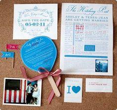Wedding invitations by Moonbeams & Polkadots