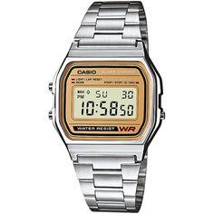 840a407af56e Casio Retro Digital A158WEA-9EF watch. Relojes Deportivos HombreReloj CasioOro  PlataAcero ...