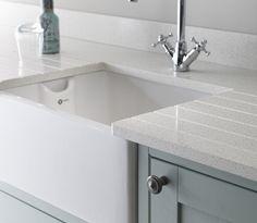 White Frozen Marble Kitchen Countertop