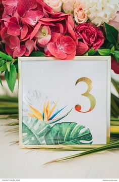 Bright, beautiful and filled with fun - tropical bridal inspiration with pink, orange and shades of teal