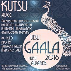 Somistajayhdistys Ry - Visuaalista markkinointia vuodesta 1950: Visu Gaala 2016 illalliskortit myynnissä