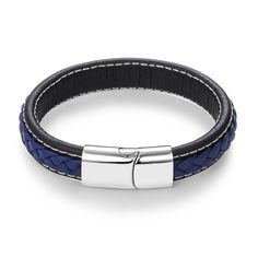 Jiayiqi 2017 Men Jewelry Punk Black Braided Geunine Leather Bracelet Stainless Steel Magnetic Buckle Fashion Bangles 22/20.5cm-in Charm Bracelets from Jewelry & Accessories on Aliexpress.com | Alibaba Group