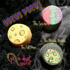 Disney Hocus Pocus inspired bath bomb set, Sanderson sisters, villain, halloween, potion, witch