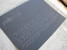 10 Most Elegant Black Letterpress Business Cards