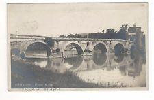 1923 – Ponte Molle, Rome, Italy Real Photo Postcard – Milvian Bridge