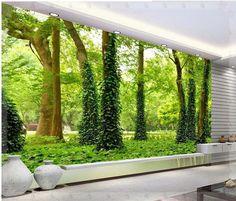 Grande papel de parede papel de parede HD paisagem mural papel de parede papel de parede adesivos de parede floresta 8738 cobre(China (Mainland))