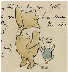 Original Pooh drawing