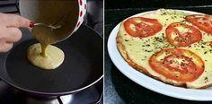 Massa é feita no liquidificador. Eu faço para comer no café da tarde ou quando quero um lanche rápido. Pizza de Frigideira com Massa Caseira.