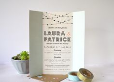 Laura & Patrick Bespoke wedding Stationery