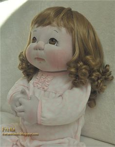 "¡ VENTA! Vida de Fretta tamaño 24""/ 61 cm escultura suave bebé. Fresa rubia, ojos marrones. Muñeca OOAK textil, hijo seguro"