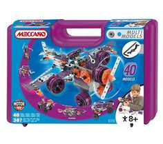 With the Meccano Best of 40 Set you can let children take on the role of a mechanical engineer using steel girders plates nuts bolts and wheels