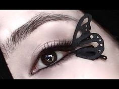 DIY paper lashes - butterfly wings. This is absolutely stunning.