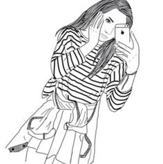 """Image search result for """"black and white girl drawing swag"""" Hipster Girl Drawing, Tumblr Girl Drawing, Tumblr Sketches, Tumblr Art, Drawing Sketches, Tumblr Outline Drawings, Girly Drawings, Black And White Girl, Black And White Drawing"""