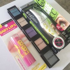 Makeup Bundle! 5 revelon eye shadows $4 a piece reg price, $10 physicians formula reg price and $5 baby lips regular price! Physicians Formula Makeup Mascara