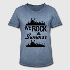 We rock the Summer - fetzige Shirts und Geschenke passend für den Sommer voller Musik Festivals. #werock #rocken #rock #pop #musik #band #musiker #fans #fan #summer #sommer #festival #sommerfestival #musikfestival #party #fun #cool #sprüche #shirts #geschenke