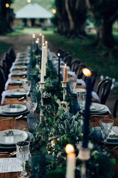 Wedding Table, Fall Wedding, Wedding Ceremony, Wedding Ideas, Forest Wedding Inspiration, Wedding Black, Wedding Hair, Black Weddings, Geek Wedding