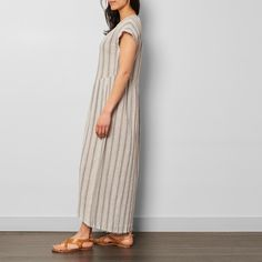 Cotton Striped Maxi Dress-product