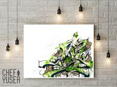 DESCARGA DIGITAL lámina decoración graffiti .Graffiti artístico. Decoración graffiti verde.Tamaño A3. Graffiti personalizado. de CHEFYUSERPRINTS en Etsy https://www.etsy.com/es/listing/493690492/descarga-digital-lamina-decoracion