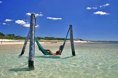 girl relaxing in Jericoacoara, Ceará, Brazil