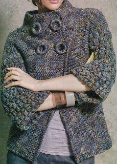 TRICO y CROCHET-madona-mía: Abrigo a crochet con receta de tejer