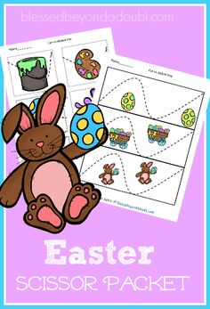 FREE Easter Scissor Packet! These printables come in 3 different levels!