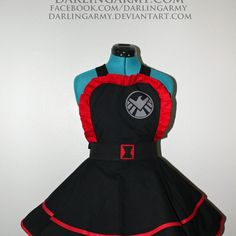 Black Widow Avengers Cosplay Apron Pinafore Dress Accessory | Darling Army
