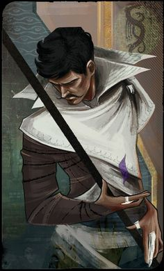 Dorian Pavus | Ever since I made the grave mistake of playing Dragon Age Inquisition contemporaneously with my reading of the Throne of Glass series, I cannot help but see him as Dorian Havilliard