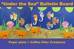 Under the Sea Bulletin Board.... article filled with beach ideas + projects, connected to beach-linky!!