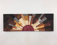 Wood wall art  Eclipse of Jupiter  wooden wall
