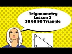 Trigonometry Lesson 2 30 60 90 Special Right Triangles The complete trig unit contains 9 videos. Each lesson includes many sample problems, and a note taking guide. Special Right Triangle, Geometry Help, Geometry Triangles, Pythagorean Theorem, High School Classroom, Trigonometry, Student Teacher, Math Resources, Mathematics