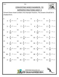 grade  fractions worksheet converting improper fractions to mixed  awesome collection of improper fractions and mixed numbers worksheets how  to convert improper fractions to mixed numbers worksheet