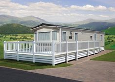 Modern Mobile Home Remodeling Idea - Wheelchair Accessible Model - note front door is open to build Ramp.