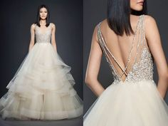 Lazaro   A fairytale princess style with fully embellished bodice and fantasy layered skirt.