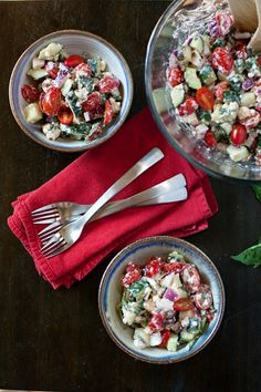 Cucumber Tomato Feta Salad...an Egyptian staple! I make this (not this exact recipe) all the time and it's so so good.