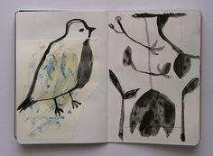 winter sketchbook Cathy Cullis
