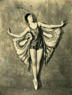butterfly costume on Helen Denison