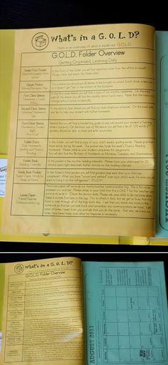Homework Folders (a.k.a. GOLD Folders)