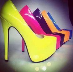 Yellow, pink , blue , orange, purple