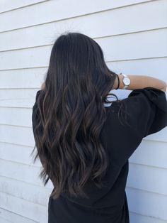 Brown Hair Balayage, Balayage Ombre, Hair Highlights, Dark Brunette Hair, Dark Hair, Brunette Color, Hair Color For Black Hair, Brown Hair Colors, Dye My Hair
