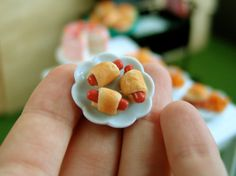 Dollhouse Food Pigs in a Blanket - 1/12 scale