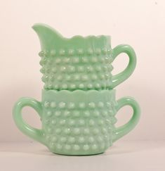 Jadeite sugar and creamer | #tableware