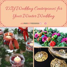 This collection of DIY Wedding Centerpieces for Your Winter Wedding will inspire you to make the most gorgeous DIY winter wedding centerpieces imaginable. Winter Wedding Centerpieces, Diy Centerpieces, Diy Wedding Decorations, Wedding Ideas, Wedding Reception, Winter Wedding Flowers, Winter Wonderland Wedding, Rustic Invitations, Bridal Showers
